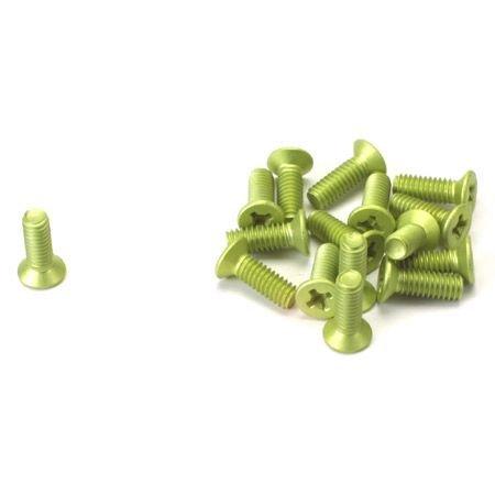 Team Associated Screws, Flat Head Philips Aluminum 8-32 x 1/2, (16), ASC6280