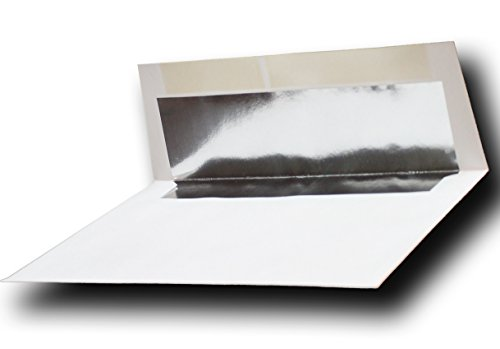 Silver Foil-Lined 70lb. White A7 Envelopes 100 Boxed for 5 X 7 Weddings Invitations Announcements from The Envelope Gallery