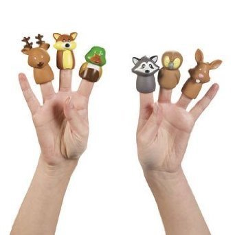 Woodland Animal Finger Puppets - 12 pc Character Finger Puppets
