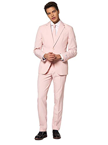 OppoSuits Solid Color Suits for Men Comes with Pants, Jacket and Tie