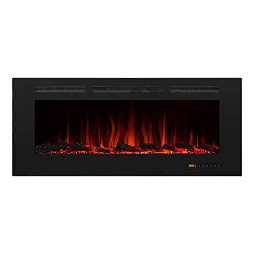 "Valuxhome Armanni 50"" 750W/1500W, In-Wall Recessed Electric Fireplace Heater w/ Touch Screen image"