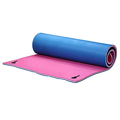 OVASTLKUY 9x6 ft/12x6ft/18x6ft Floating Water Mat,Pool Float Padded Mat Foam Fun Pad Designed for Water Recreation and Relaxing  (12x6ft, Blue&Pink): Toys & Games
