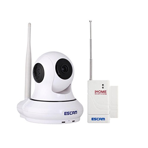 Escam Patron QF500 Monitoring Camera Wireless 1.0 Megapixel H.264 Wireless Pan/Tilt Alarm Onvif Wifi IP Camera HD 720P Support 32GB TF Card P2P Night Version Home Security Camera