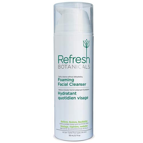 Refresh Botanicals Cucumber Foaming Face Cleanser | Organic & All-Natural Facial Wash For Men & Women | Suitable For Oily, Dry & Sensitive Skin | Coconut Oil To Moisturize & Hydrate The Skin | 150ml
