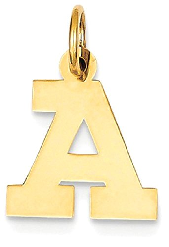 Yellow Gold Small Initial Pendant - 1