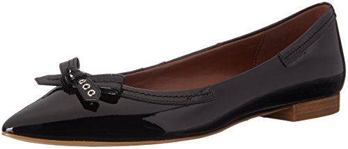 Cole Haan Women's Alice Bow Skimmer Pointed Toe Flat, Black, 9 B US by Cole Haan