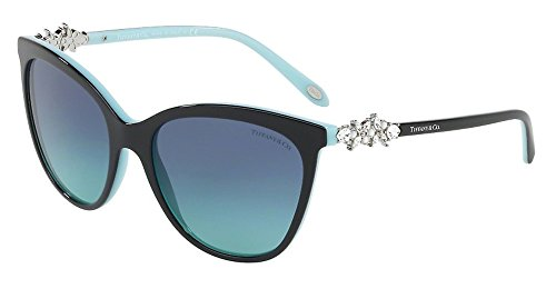 Tiffany 0TF4131HB-80559S- BLACK/BLUE 56mm - Victoria Co And Tiffany
