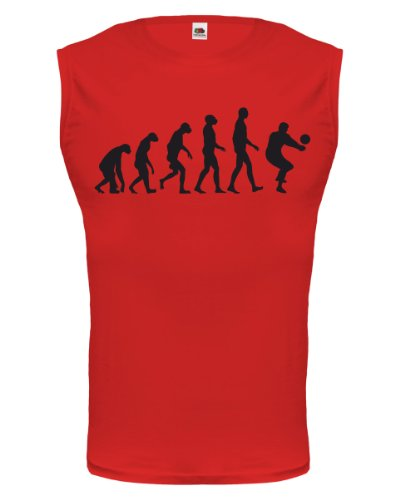 Tank Top The Evolution of volleyball-XL-Red-Black
