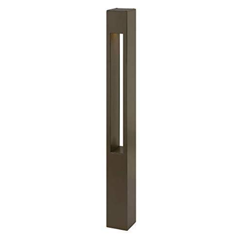 Hinkley Landscape Lighting Atlantis Bollard Landscape Path Light - Contemporary Landscape Lighting Illuminates Walkways for Increased Safety and Security, Square Mini, Bronze Finish