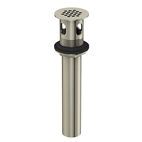 Danze DA505084BN Metal Grid Strainer Assembly with Overflow, 1 1/4-Inch Tailpiece Diameter, Brushed - Drain Strainer Grid