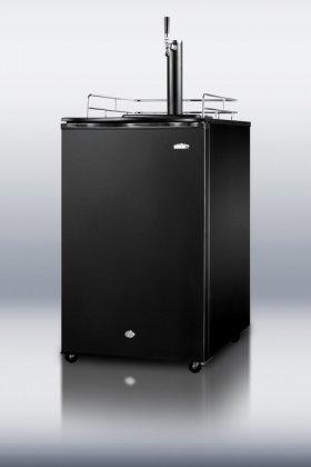 SUMMIT Auto Defrost Freestanding Beer Dispenser In Black With Factory (Summit Beer Dispenser)