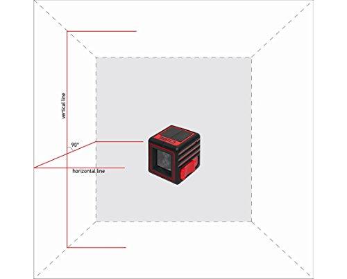 AdirPro Cube Cross Line Laser Level Home, Red/Black by AdirPro (Image #1)