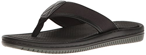 Aldo Men's Canotto Flip Flop - Black Leather - 7.5 D(M) US