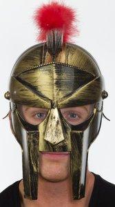 Gladiator Mask Movie (GOLD ROMAN CENTURION HELMET)
