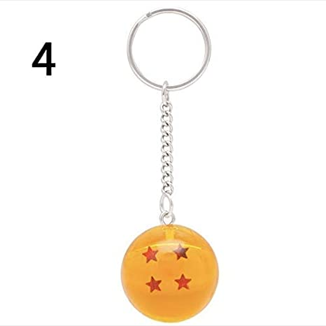 Amazon.com: qsww 3D 1-7 Star Cosplay Crystal Ball Llavero ...