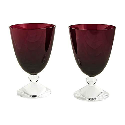 Baccarat Crystal Vega Water Glasses Red Set Of 2