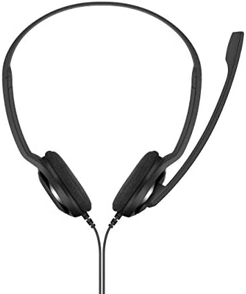 Sennheiser PC 5 Chat - Headset for Internet Communication, E-Learning and Gaming - Noise Cancelling Microphone, Casual Gaming Lightweight, high Comfort, Minimalistic, Black