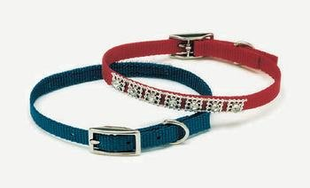 Coastal Pet Products DCP320110RED Nylon Jeweled Dog Collar, 10-Inch, Red ()
