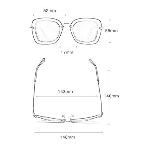 de Femme Soleil de Lunettes Conduite Des lunettes Retro Fashion de Couleur Sport Large Frame C C Miroir soleil polarisées tqy16w01