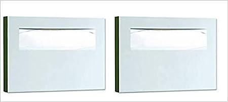 Satin Finish Pack of 3 15 3//4 x 2 x 11 Bobrick 221 Stainless Steel Toilet Seat Cover Dispenser