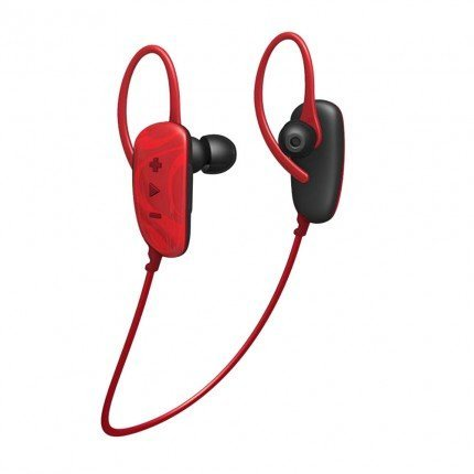 031262064103 - HMDX HX-EP250RD HoMedics Craze Wireless Stereo Ear Buds (Red) carousel main 1