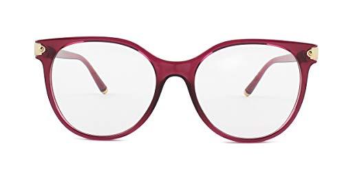- Dolce Gabbana DG5032 Black Cherry/Clear Lens Eyeglasses