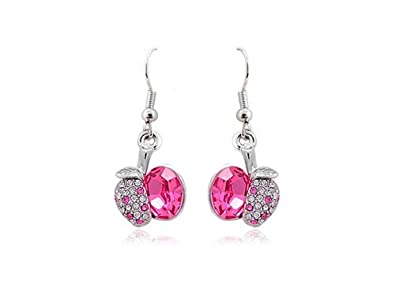 03dc2375e Image Unavailable. Image not available for. Color: Alilang Swarovski  Crystal Element Silver Tone Rose Pink ...