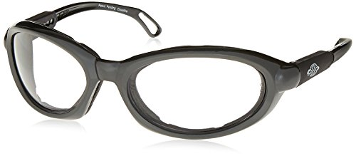 - Crossfire 116415 Raptor Foam Lined Reader Safety Glasses 1.5 Diopter Clear Lens - Shiny Pearl Gray Frame