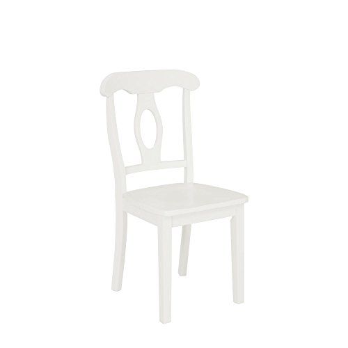 Aubrey 5 piece Traditional Height Pedestal Dining Set, White by Dorel Living (Image #4)