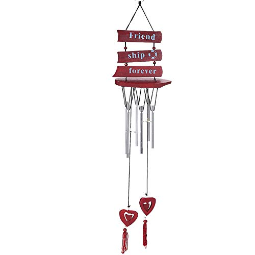 preliked Lovely Wind Chime with Sailboat Letter Love Heart Pendant Aeolian Bells Wall Hanging Home Decor Gift