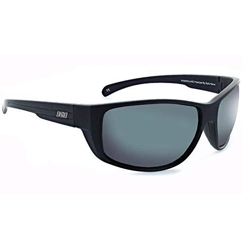 Optic Nerve, Old Salt, Unisex Sunglasses, Hydroglare Coated Eyewear - Matte Black, Polarized Brown with Red Mirror ()