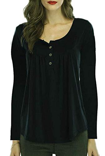 Abbottonata Home Women Coat Pieghettata T Black A color Xxs Red E Girocollo Camicetta shirt Con Allentata Size SfFfqxn
