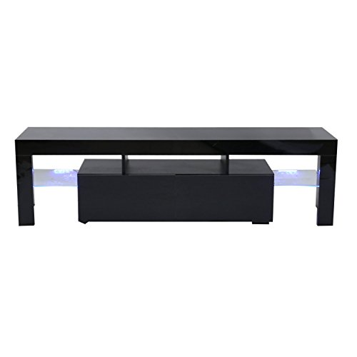 Beauty Chipboard (Modern LED TV Stand With 2 Drawers Console Stylish Contempory TV Unit Cabinet)