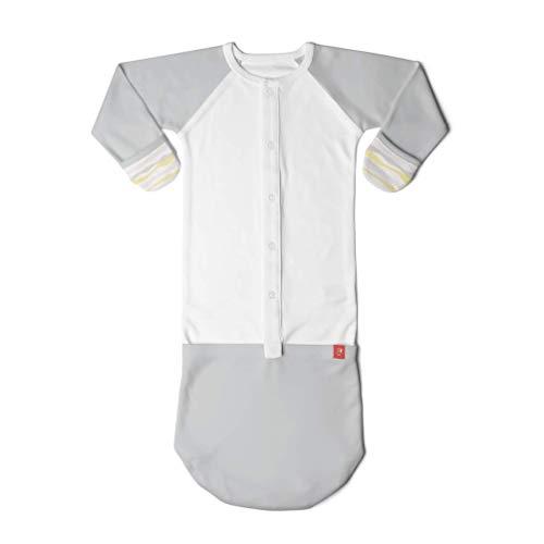 Baby Pajamas, Convertible Slip-On Sleep Sack (3-6 Months, Geo Wave Gray)