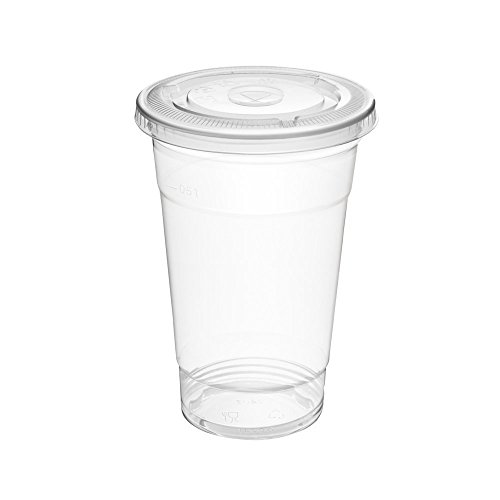 Plastic Cups,Glotoch Express 16 oz.Clear Plastic Party Cups 100 -