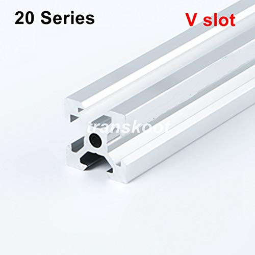 Industrial European Standard 3D Printer Frame Silver Oxide Anodized V Slot Linear Rail Aluminum Extrusion Profile 2020 Series 400 mm