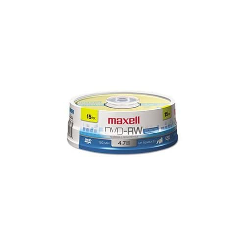 -- DVD-RW Discs, 4.7GB, 2x, Spindle, Gold, 15/Pack