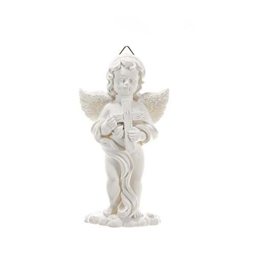 - Mega Crafts Religious Wall Décor Angel Figurines Plaque | Poly Resin Construction | Hang Or Wall Mount Via The Hanging Loop | For Praying, Home Décor, Housewarming Gift, Meditation & More