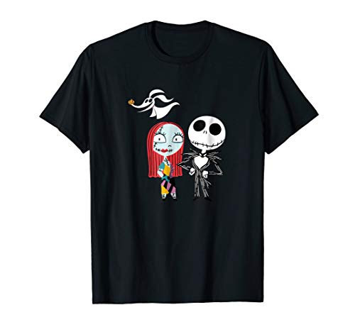 Disney Nightmare Before Christmas Jack and Sally TShirt for sale  Delivered anywhere in USA