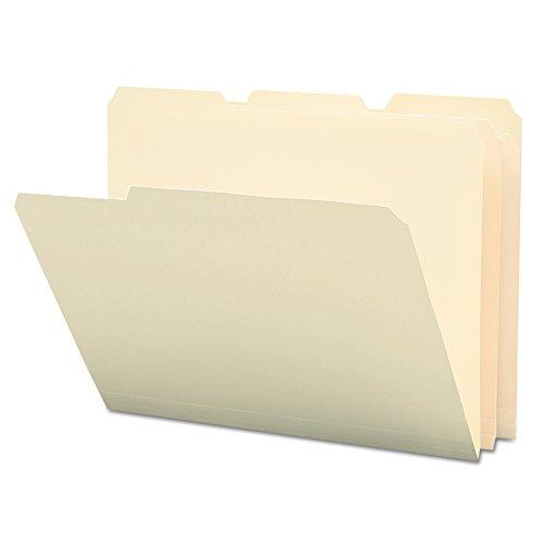 Poly Manila Folders - Smead Poly File Folder, 1/3-Cut Tab, Letter Size, Manila, 12 per Pack (10510)