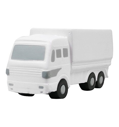 Truck Stress Reliever (Box Truck Stress Reliever - White - Promotional Product - Your Logo Imprinted (Case Pack of 250))