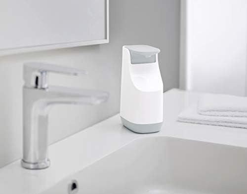 Joseph Joseph Slim Compacto – Dispensador de jabón, plástico, Blanco y Gris, 9.1 x 6.2 x 14.1 cm: Amazon.es: Hogar