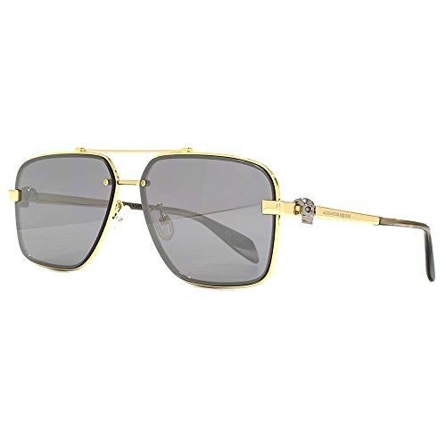 Gold Sunglasses Aviator In Mcqueen Iconic Skull Alexander Silver jUVpzLMqGS