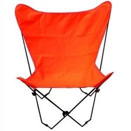 (Algoma 4053-49 Butterfly Chair and Cover Combination w/Black Frame Orange)