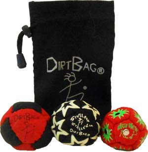 Dirtbag All Star 3 Pack with Pouch - Red/Black w/ Black Pouch