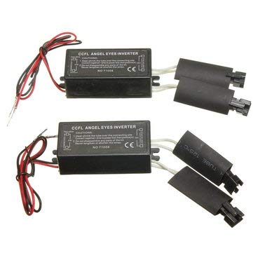 Auto Parts Other Tools - 2X Black 12V Spare CCFL Angel Eyes Inverter For E36 E46 E53 E83-2 X CCFL Angle Eyes Inverter Product Details:
