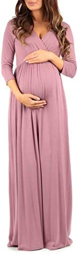 Womens Wraped Ruched Maternity Dress product image