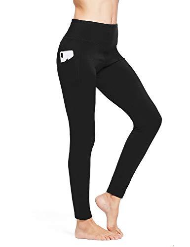 BALEAF Women's Thermal High Waist Fleece Lined Winter Leggings Yoga Pocketed Tummy Control Pants