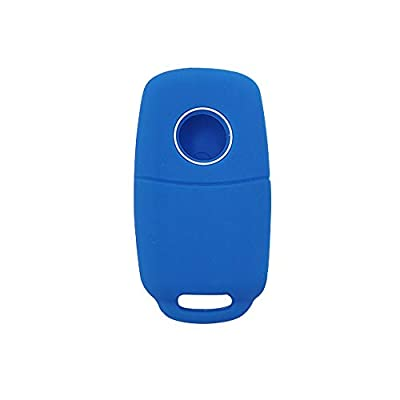 BAR Autotech Remote Key Silicone Rubber Keyless Entry Shell Case Fob and Key Skin Cover fit for VW Volkswagen B5 Golf Polo Passat Jetta (1 Pair) (Blue): Car Electronics
