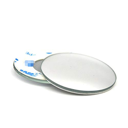 1 Pair Car Blind Spot Mirrors Frameless HD Glass Convex Wide Angle 360/° Rotatable Adjustable Stick-On Rear View Mirrors